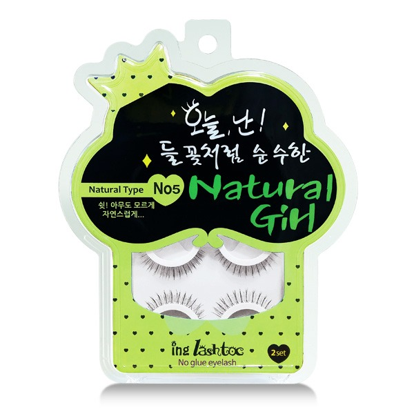 No Glue Eyelashes, Natural Girl - Ing Lashtoc | BIO Boutique